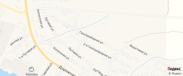 Газопроводная улица на карте села Яксатово с номерами домов