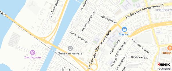 Камская улица на карте Астрахани с номерами домов