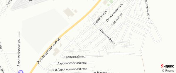 Царевская 1-я улица на карте Астрахани с номерами домов