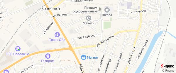 Крестьянская улица на карте села Солянки с номерами домов