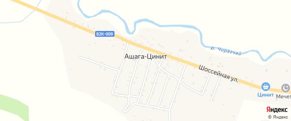 Комсомольская улица на карте села Цинита с номерами домов