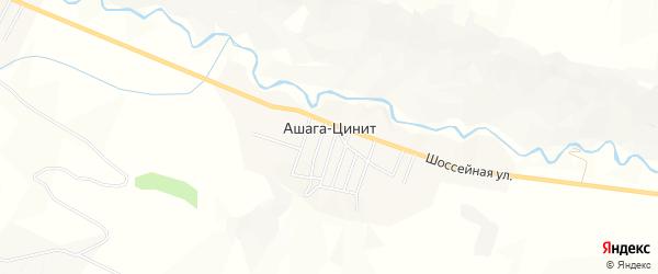 Карта села Цинита в Дагестане с улицами и номерами домов