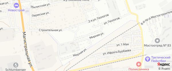 Солянская улица на карте Астрахани с номерами домов