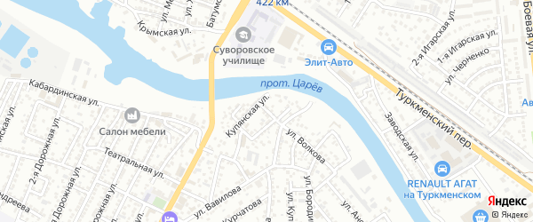 Улица Ярошенко на карте Астрахани с номерами домов