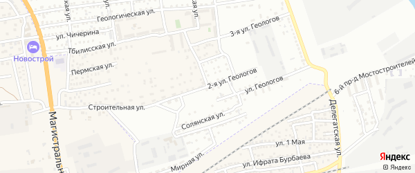 Улица Геологов на карте села Солянки с номерами домов