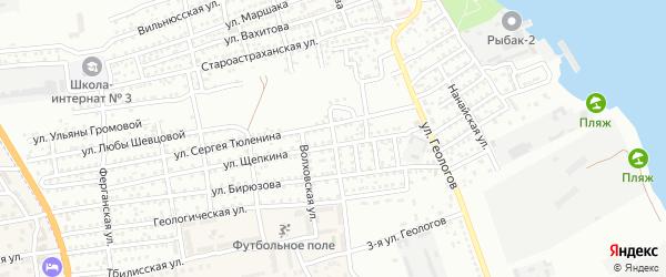 Геологический переулок на карте Астрахани с номерами домов