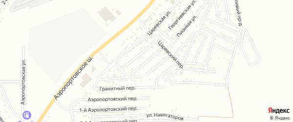 Царевская 2-я улица на карте Астрахани с номерами домов