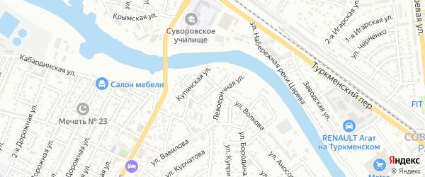 Правоеричная улица на карте Астрахани с номерами домов