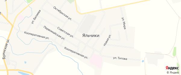 Карта села Яльчиков в Чувашии с улицами и номерами домов