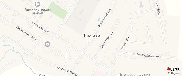 Улица Канашское шоссе на карте села Яльчиков с номерами домов