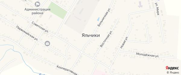 Улица Андреева на карте села Яльчиков с номерами домов