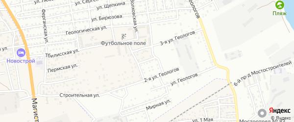 Кузнецкая улица на карте Астрахани с номерами домов