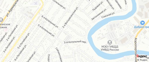 Котельный 6-й переулок на карте Астрахани с номерами домов