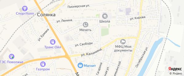 Вилюйская улица на карте села Солянки с номерами домов