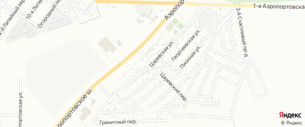 Царевская улица на карте Астрахани с номерами домов