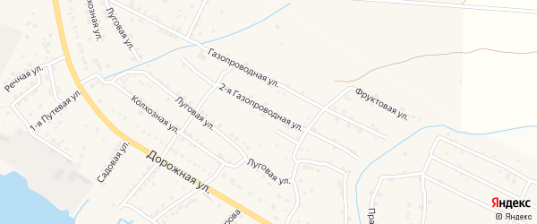 Газопроводная 2-я улица на карте села Яксатово с номерами домов
