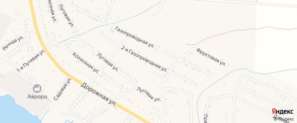 Фруктовая 2-я улица на карте Астрахани с номерами домов