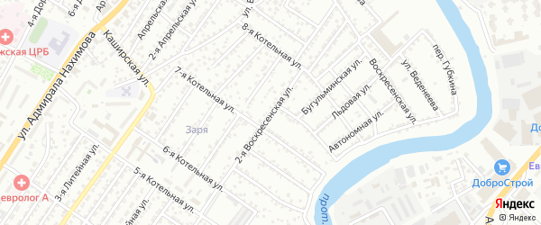 Воскресенская 2-я улица на карте Астрахани с номерами домов