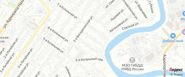 Заводской 7-й переулок на карте Астрахани с номерами домов