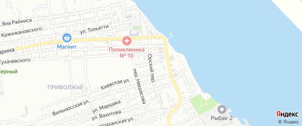 Переулок Трудовых Резервов на карте Астрахани с номерами домов