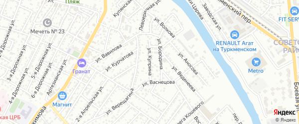 Улица Куприна на карте Астрахани с номерами домов