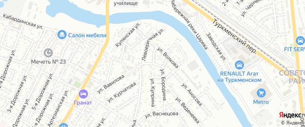 Улица Ватутина на карте Астрахани с номерами домов