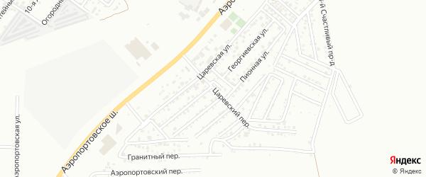 Царевский переулок на карте Астрахани с номерами домов