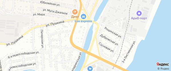 Прохладненская 1-я улица на карте Астрахани с номерами домов