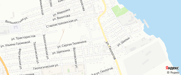 Глухой переулок на карте Астрахани с номерами домов