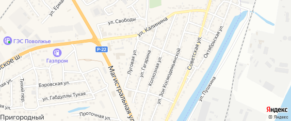 Улица Гагарина на карте села Солянки с номерами домов