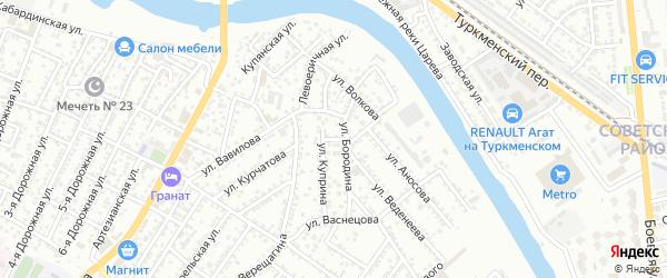 Переулок Каблукова на карте Астрахани с номерами домов