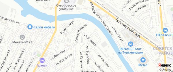 Улица Волкова на карте Астрахани с номерами домов