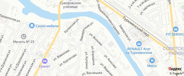 Турбазовский 2-й переулок на карте Астрахани с номерами домов