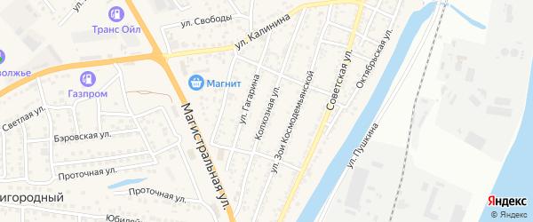 Колхозная улица на карте села Солянки с номерами домов
