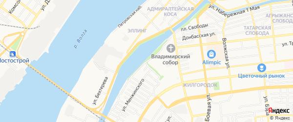 ГСК Сигнал на карте улицы Набережной Приволжского затона с номерами домов