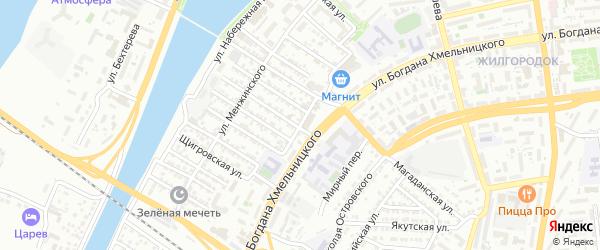 Улица Власова на карте Астрахани с номерами домов