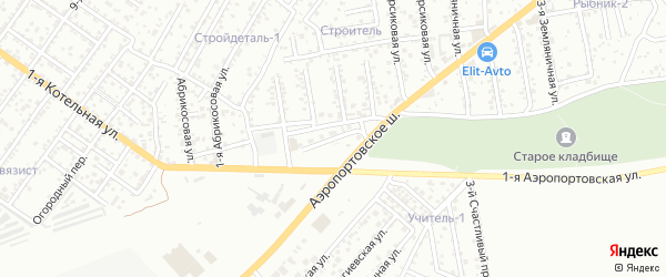 Аэродромная улица на карте Астрахани с номерами домов