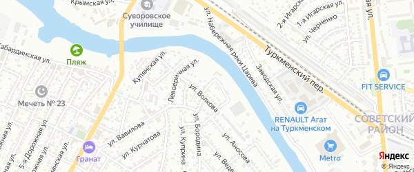 Котельный 3-й переулок на карте Астрахани с номерами домов