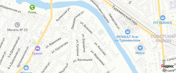 Улица Айвазовского на карте Астрахани с номерами домов
