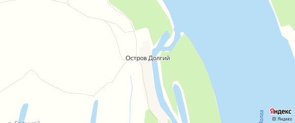 Карта Острова Долгого поселка в Астраханской области с улицами и номерами домов