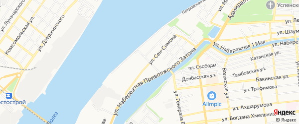 ГСК N43 на карте переулка Щекина с номерами домов