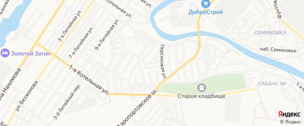 ГСК Строитель на карте Астрахани с номерами домов