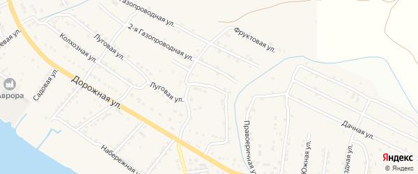 Левоеричная улица на карте села Яксатово с номерами домов