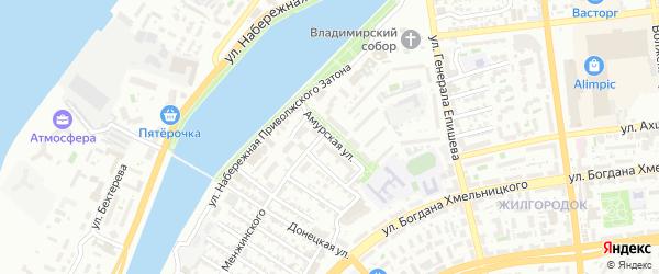 Амурская улица на карте Астрахани с номерами домов