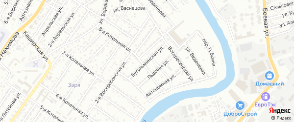 Бугульминская улица на карте Астрахани с номерами домов