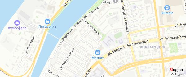 Хабаровская улица на карте Астрахани с номерами домов