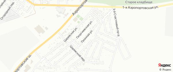Пионная улица на карте Астрахани с номерами домов
