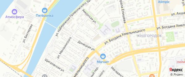 Севастопольская улица на карте Астрахани с номерами домов