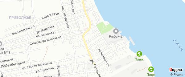 Улица 20 лет Победы на карте Астрахани с номерами домов