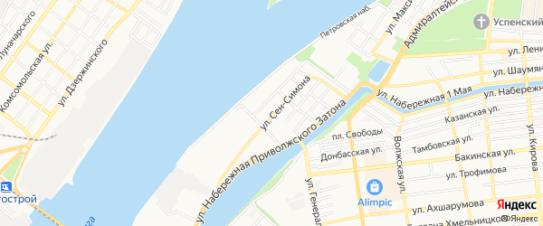 ГСК N30 Эллинг на карте улицы Сен-Симона с номерами домов